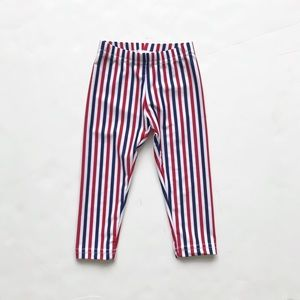 American Apparel red/blue stripe leggings VGUC 2T